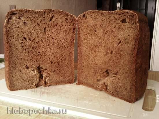 Пшенично-ржаной дрожжевой хлеб с картофельными хлопьями