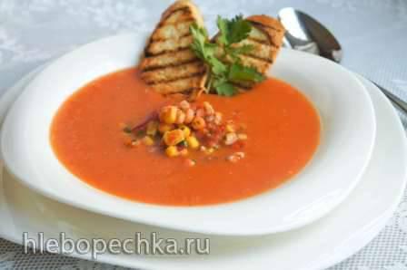 """Сырный кукурузный суп с мясом кролика из кинофильма """"Огниво"""" Томатный суп с кукурузой в мультиварке Zigmund&Shtain MC-DS 42 IH"""