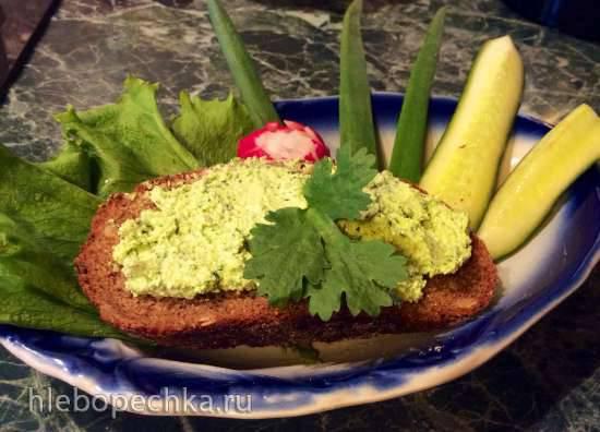 Паста для бутербродов из творога с зеленью