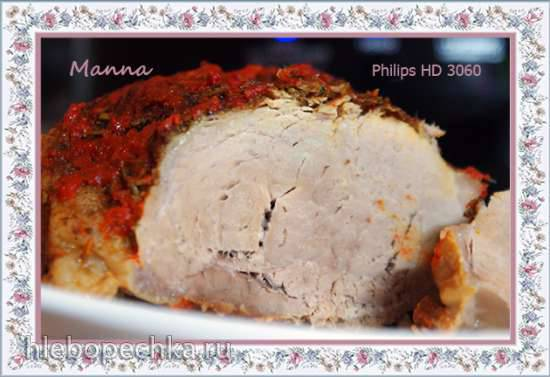 Мясо в остром соусе в мультиварке Philips HD3060