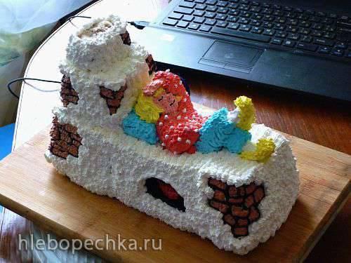Торт 3D Емеля на печи (мастер-класс)