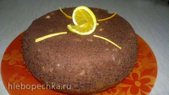 Шоколадный пирог с дробленым фундуком (Philips 3134/00)