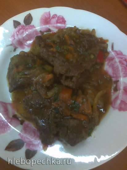 Печень в овощном соусе