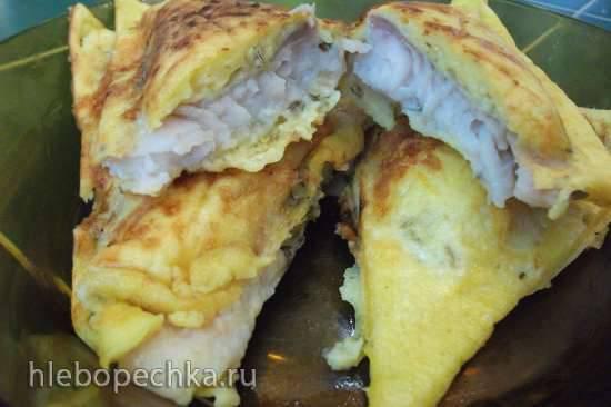 Рыба в пикантном кляре (сэндвичница Steba)