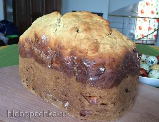 Итальянский кулич с цукатами и миндалем для хлебопечки Mirta BM2088