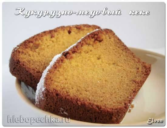 Кукурузно-медовый кекс (без глютена)