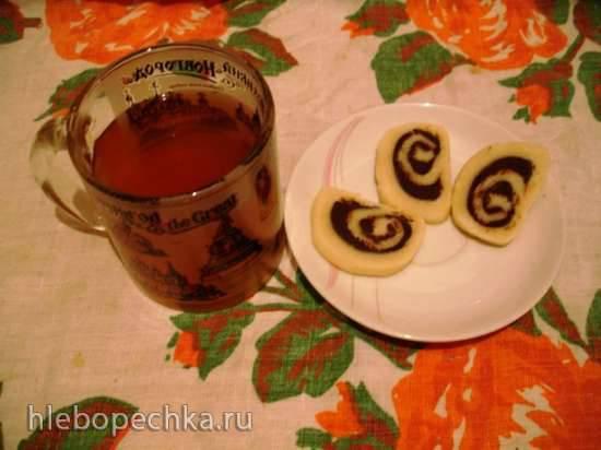 Конфеты быстрого приготовления из марципана и шоколада