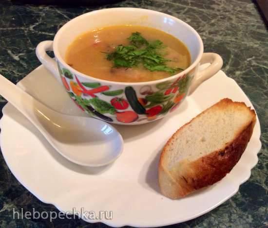 Суп картофельный с копченостями (стационарный блендер-суповарка Moulinex)