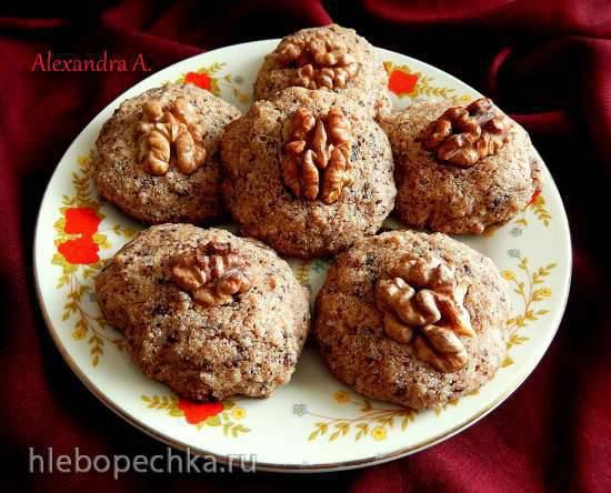 Норвежское орехово-шоколадное печенье