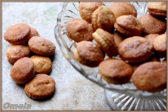Творожное печенье с яблоком