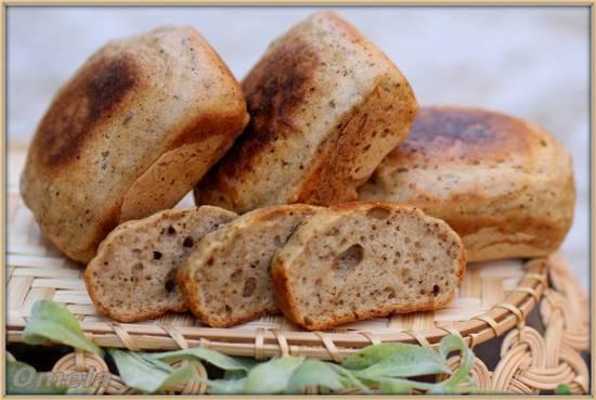 Порционный хлеб Ароматный с травами из смеси (Брауни мейкер Tristar)