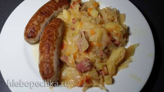 Две капусты с картошкой и  домашней колбасой в Brand 6050