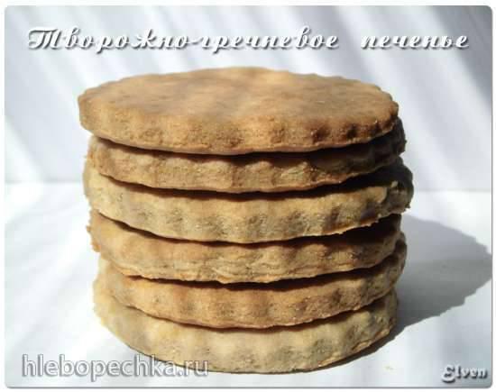 Творожно-гречневое печенье