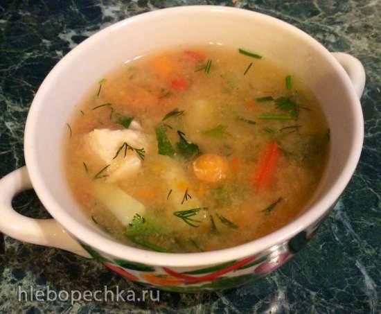 Суп тыквенно-овощной с курицей (стационарный блендер-суповарка Moulinex)