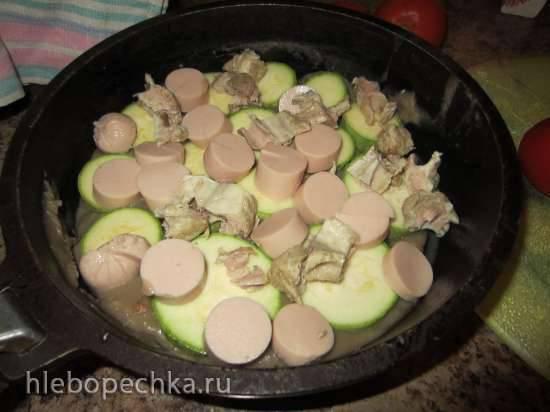 Запеченка в грибном соусе