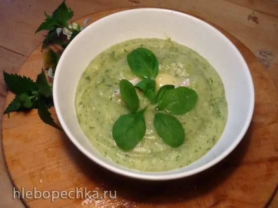 Крем-суп с брокколи и шпинатом