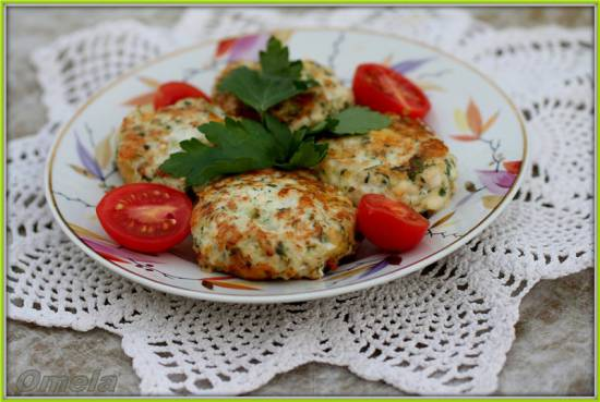 Рубленные котлетки с сыром и зеленью