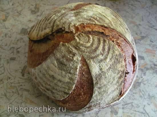Гречневый хлеб с тмином на закваске