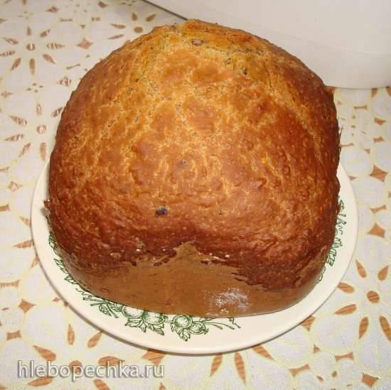 Яблочный хлеб с орехами в хлебопечке Midea AHS15BC