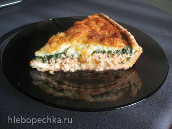 Киш с курицей и грибами Французский пирог Киш Лорен