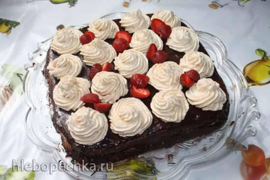 Торт Заварная клубничка
