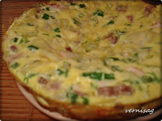 Тортилья с отварным картофелем, мясом и сыром в  Philips 3134/00