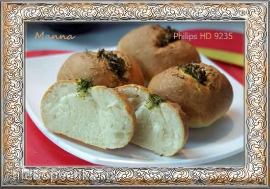 Дрожжевые чесночные булочки в мультипечи Philips HD9235
