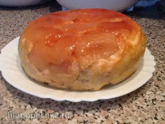 Творожный пудинг с карамелизированными яблоками (Redmond RMC-01)