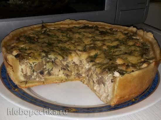 Пирог с курицей и грибами (мультиварка Mirta MC-2211)