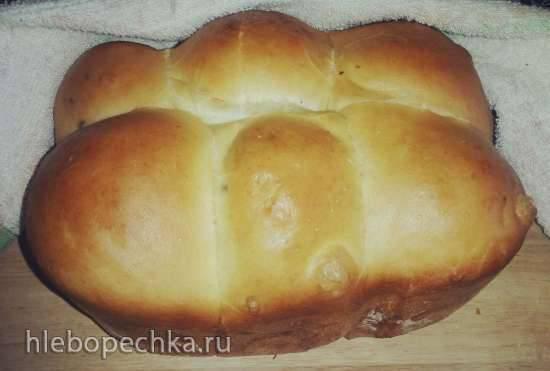 Очень ленивые пирожки со смородиной (хлебопечка)