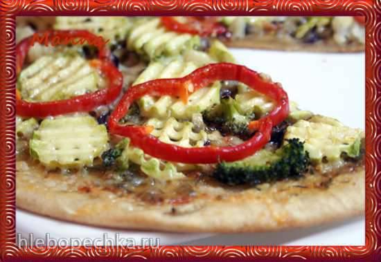 Овощная пицца в гриле BBK и пиццепечке Princess Овощная пицца в гриле BBK и пиццепечке Princess