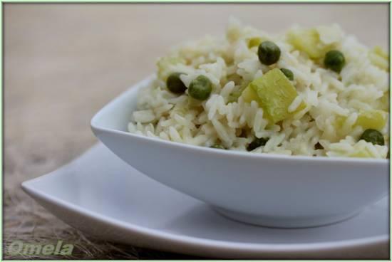 Сливочный рис с кабачком
