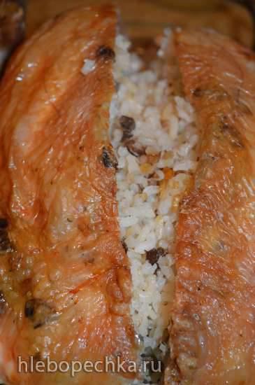Курица фаршированная рисомКурица фаршированная рисом