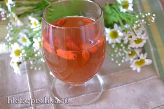 Напиток из ягод годжи с имбирем и медом