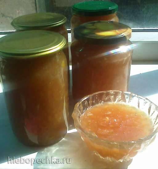Конфитюр из яблок, айвы и дыни по-болгарски