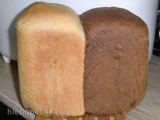 """Хлеб """"День и ночь"""" или хлеб """"псевдо Бородинский"""" цельнозерновой с льняной мукой и солодом"""