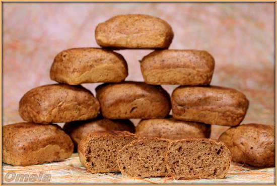 Порционный Московский хлеб из смеси (Брауни мейкер Tristar)
