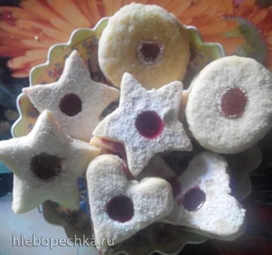 Двойное печенье с вареньем по-австрийски