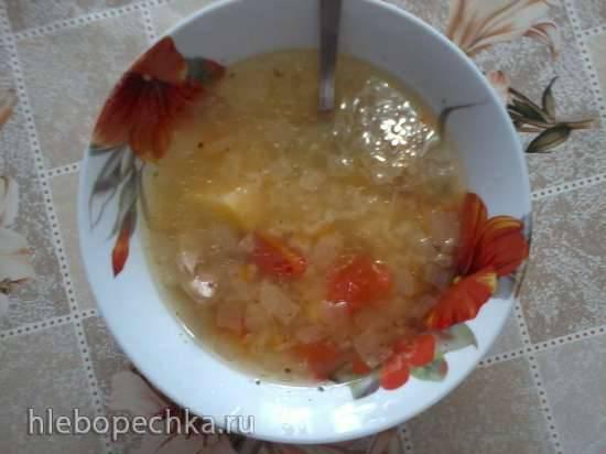 Суп куриный с рисом (скороварка Polaris 0305 AD)