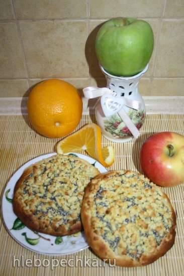 Маковые блюдца с апельсиновым штрейзелем (Mohntaler Mit Orangenstreuseln)