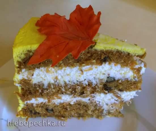 """Торт """"Осеннее настроение"""" морковный"""