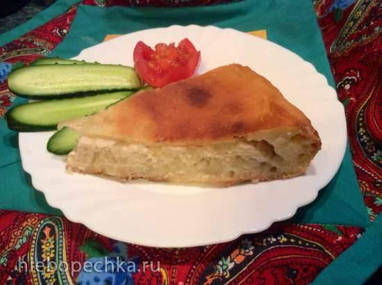 Балиш с курицей, картошкой и луком (пиццепечь Принцесс)