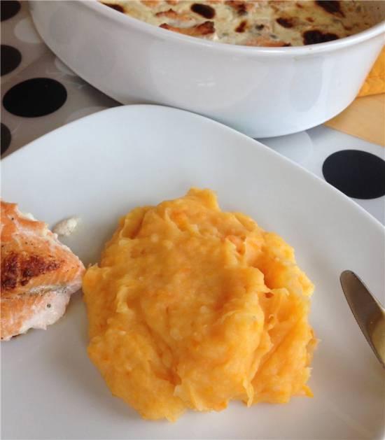 Оранжевое картофельное пюре