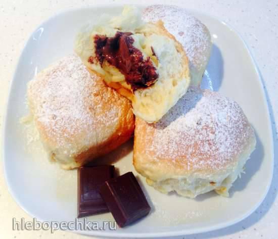 Шоколадные булочки Бухтельн с чили (Buchteln)