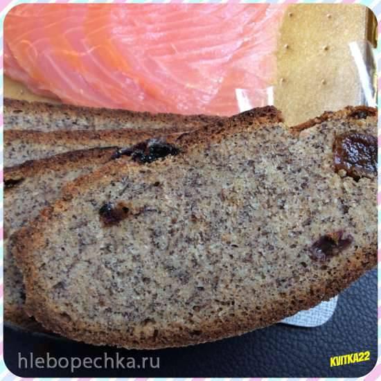 Маковый пшенично-ржаной хлеб с изюмом