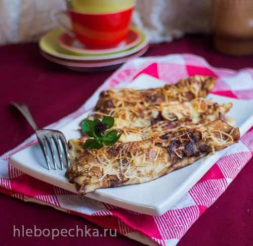 Блины с запеченным беконом и сыром (Speckpfannkuchen)