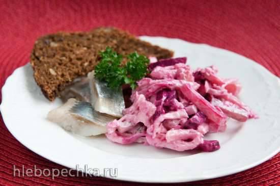 Салат из сельди со свеклой (Heringsalat mit Roten Rueben)