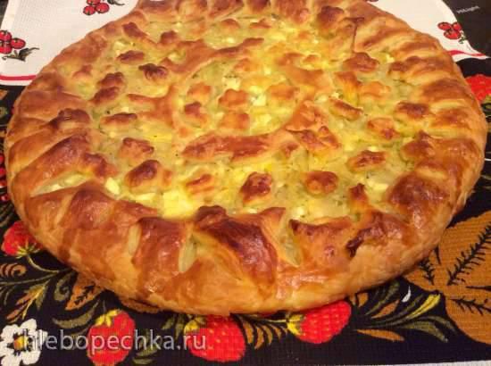 Пирог с капустой и яйцом (Пиццепечь Принцесс и Jamie Oliver HomeCooker Philips HR1050/90)