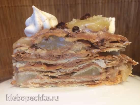 Торт немецкий грушевый Schokoladen-Birnentorte