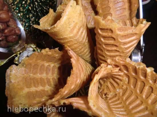 Weihnachten waffelhoernchen (Новогодние вафельные рожки)